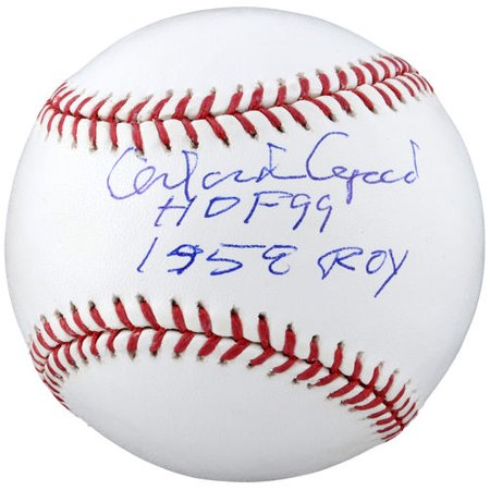 Orlando Cepeda San Francisco Giants Autographed Baseball with HOF 1990 58 NL Roy Inscription