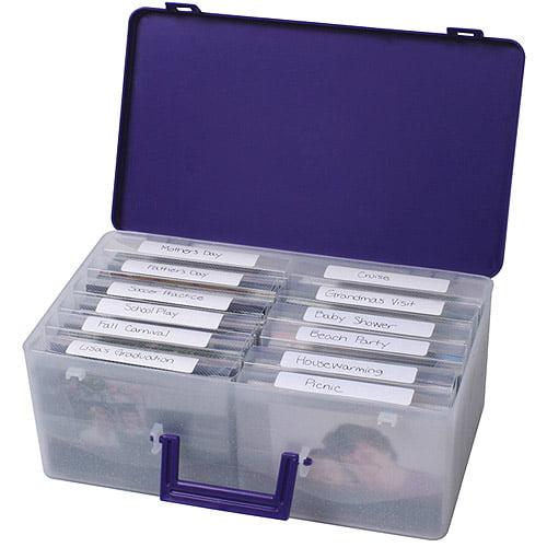 Cropper Hopper Photo Supply Case, Purple 7.75X13.25X5
