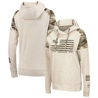 UCF Knights Colosseum Women's OHT Military Appreciation Desert Camo Raglan Pullover Hoodie - Oatmeal