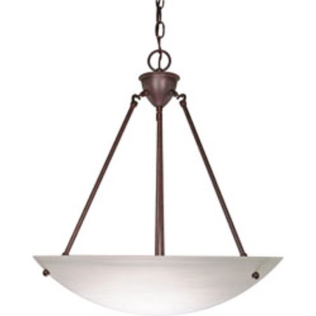 Replacement for 60/371 3 LIGHT 23 INCH PENDANT ALABASTER GLASS BOWL OLD BRONZE TRANSITIONAL