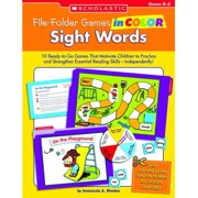 Scholastic Sight Words File Folder Games