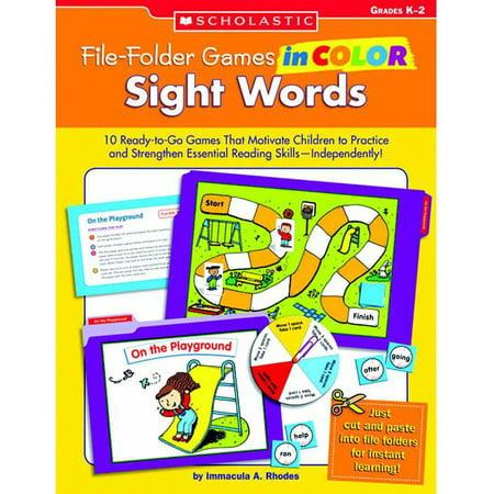 Scholastic Sight Words File Folder Games