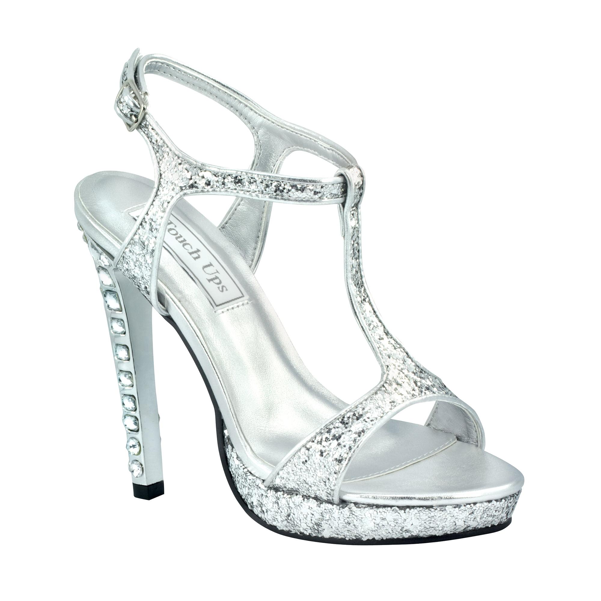 Touch Ups Womens Darcy Platform Sandal,Silver Glitter,6 M US