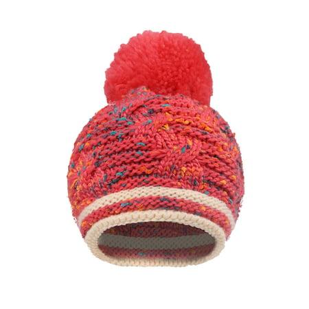 cf5ef0a8de3 BASILICA - Arctic Paw Girls Chunky Knit Beanie with Yarn Pompom