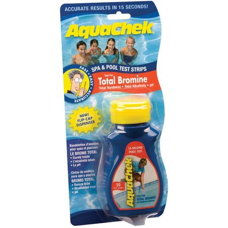 Aquachek Bromine Red Swimming Pool Spa Test Kit Strips