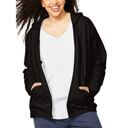 Women's Plus-Size Fleece Zip Hood Jacket for $<!---->
