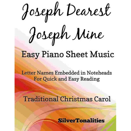 Joseph Dearest Joseph Mine Easy Piano Sheet Music - eBook - This Is Halloween Sheet Music Piano Easy