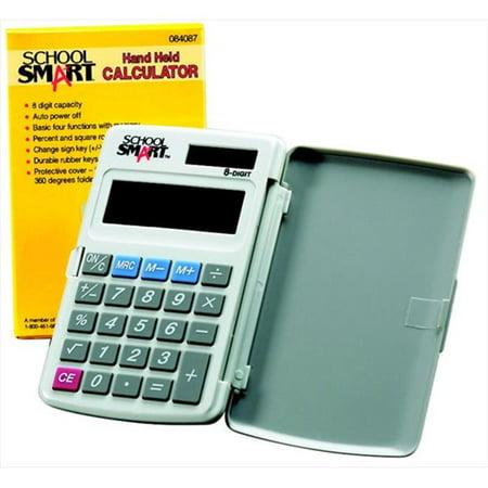School Smart 084087 8-Digit Pocket Calculator, 3-Key Memory, 1-Touch Square