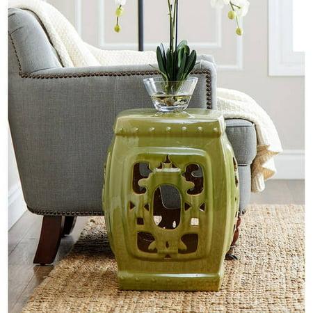 Devon and Claire Bonzai Glazed Ceramic Garden Stool, Multiple Colors
