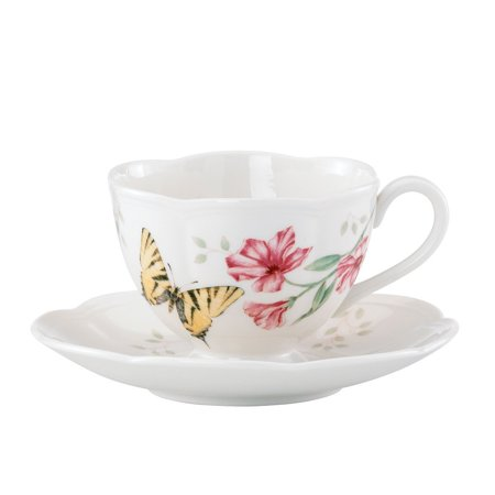 Lenox Butterfly Meadow Tiger Swallow Tail Cup and Saucer (Lenox Butterfly)