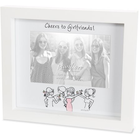 Pavilion - Cheers to Girlfriends! Bridesmaid Gift White Picture Frame - Bridesmaid Gifts Etsy