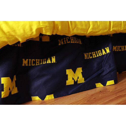 College Covers NCAA Michigan Dust Ruffle