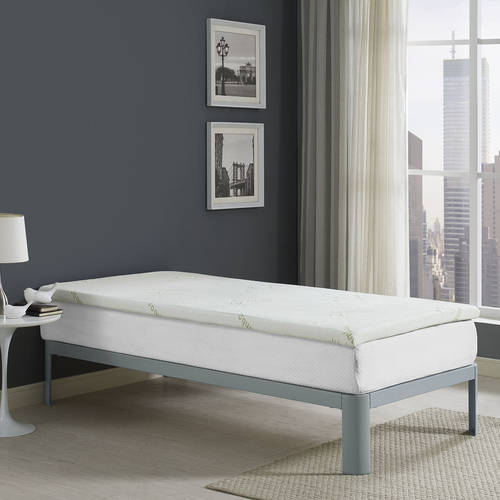 "Modway Relax 2"" Gel Memory Foam Mattress Topper, Multiple Sizes"