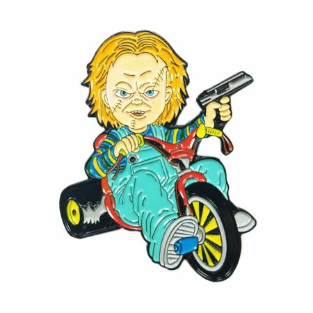 Chucky Doll Big Wheel Cult of Chucky Horror Movie Enamel Pin](Chucky Doll)