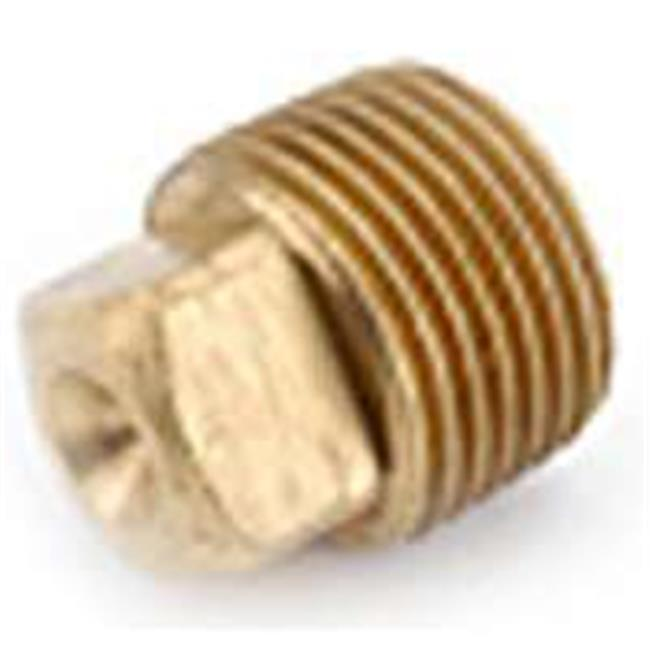 Anderson Metal 738114-20 1.25 In. Lo-Lead Red Brass Solid Plug