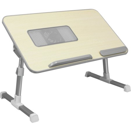 Image of Adjustable Ergonomic Laptop Cooling Table with Fan