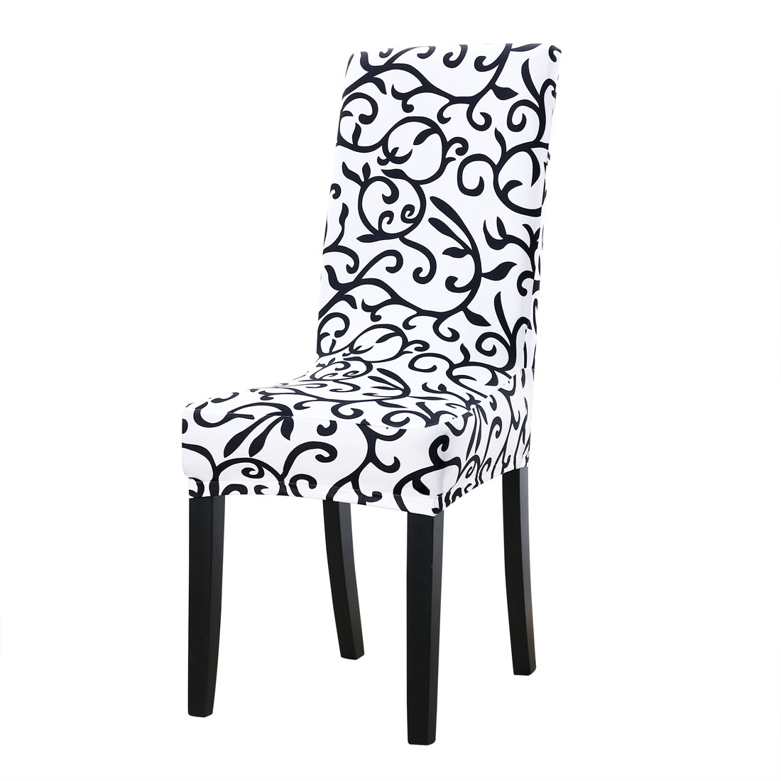 6Pcs Elastic Short Decorative Slipcovers Chair Covers for Dining Room