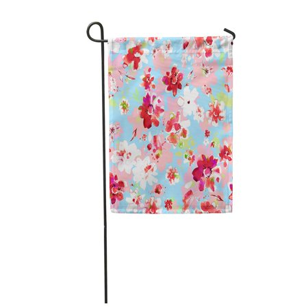 POGLIP Colorful Abstract Watercolor Floral L Pastel Gentle Pink Baroque Beautiful Bud Garden Flag Decorative Flag House Banner 12x18 inch - image 1 of 1