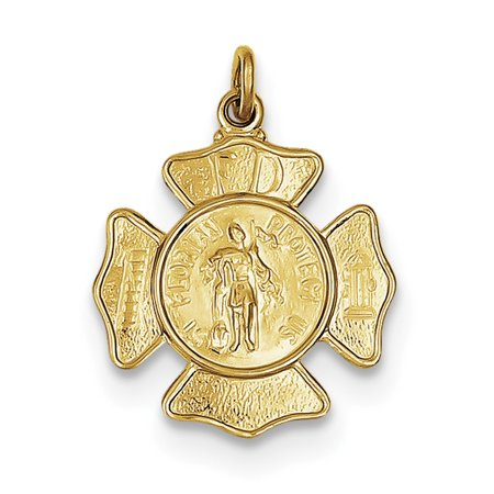 24k Gold-plated Sterling Silver Saint Florian Fireman's Badge - Fireman Badges