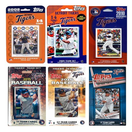 C I Collectables Mlb Detroit Tigers 6 Different Licensed Trading Card Team Sets