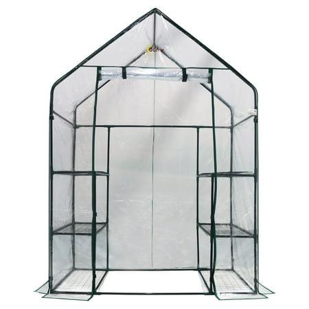 Image of Ogrow 3 Tier 6 Shelf - Portable Walk-In Greenhouse - Deluxe