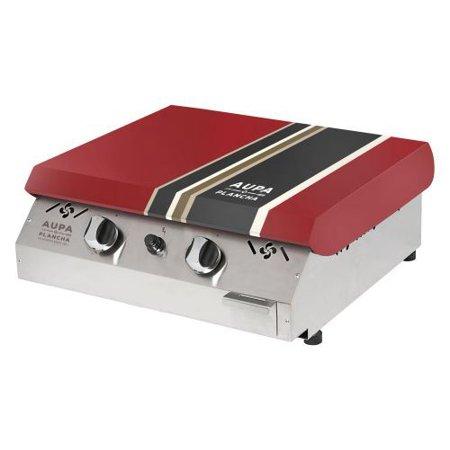 aupa plancha 2 burner propane gas barbecue grill red. Black Bedroom Furniture Sets. Home Design Ideas