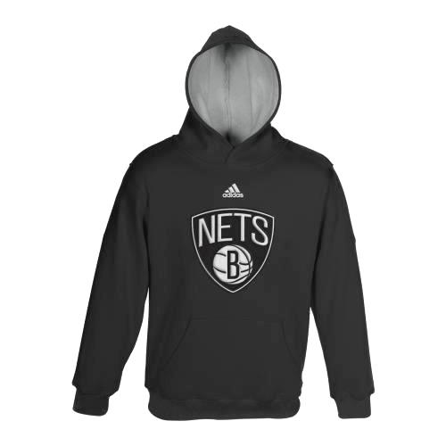 Brooklyn Nets Youth Adidas NBA 2013 Team Color Pullover Hooded Sweatshirt