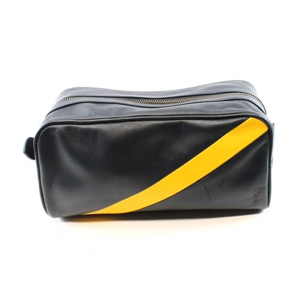 eb35efcdc4eb Polo Ralph Lauren - Polo Ralph Lauren NEW Blue Yellow Stripe Leather  Utility Toiletry Bag  188 - Walmart.com