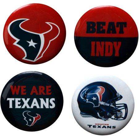 Houston Texans Team Set (Houston Texans WinCraft Team Logos & Beat Opponent 4-Pack Pin Set - No Size)