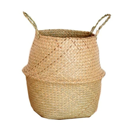 Seagrass Wickerwork Basket Rattan Hanging Flower Pot Dirty Laundry Hamper Storage Basket New](Dirty Laundry Basket Halloween Costume)