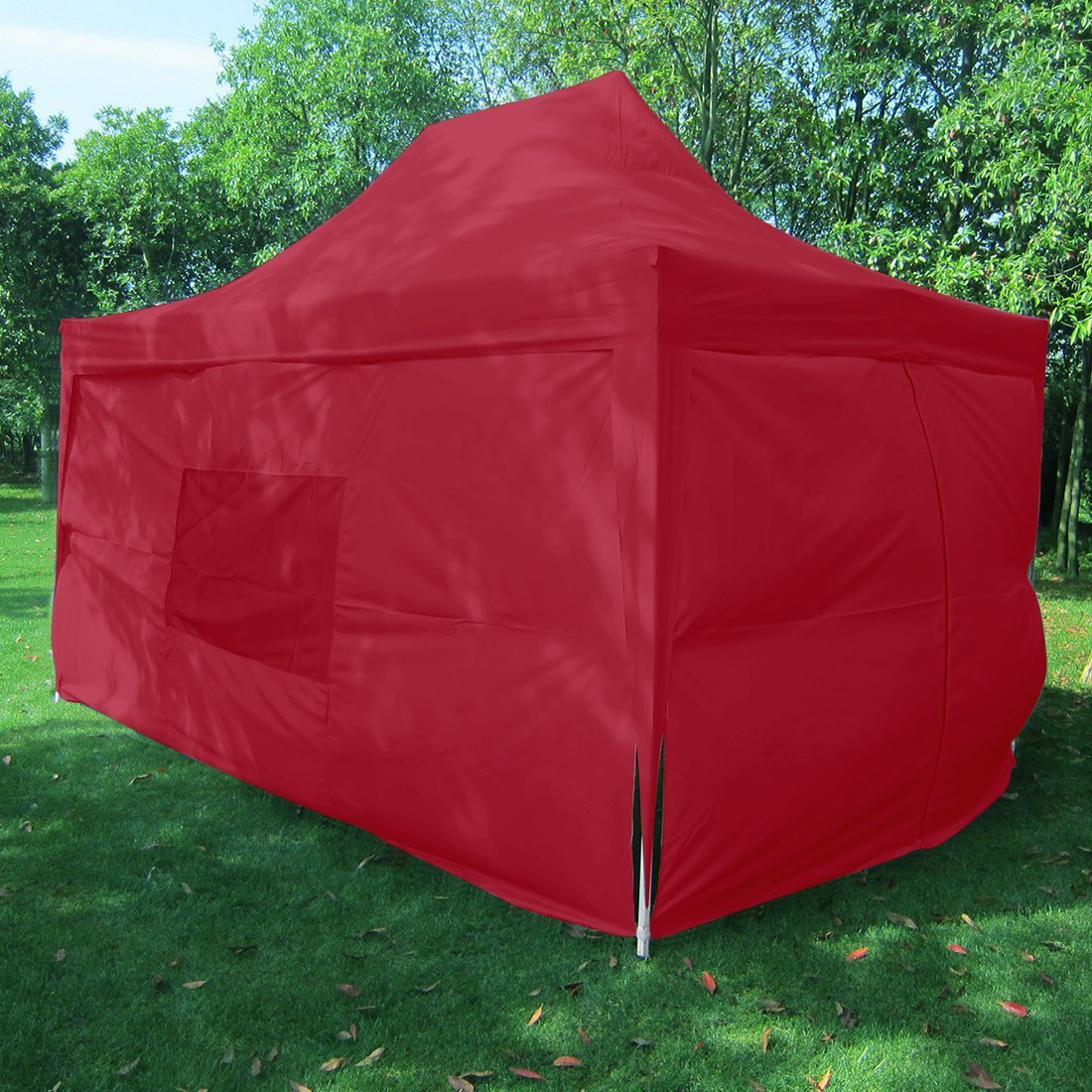 Big Sales!Quictent privacy Pyramid-roofed 10x15 Red Mesh Curtain EZ Pop Up