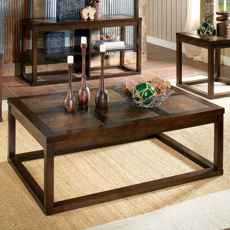 steve silver alberto rectangle cherry wood coffee table - walmart