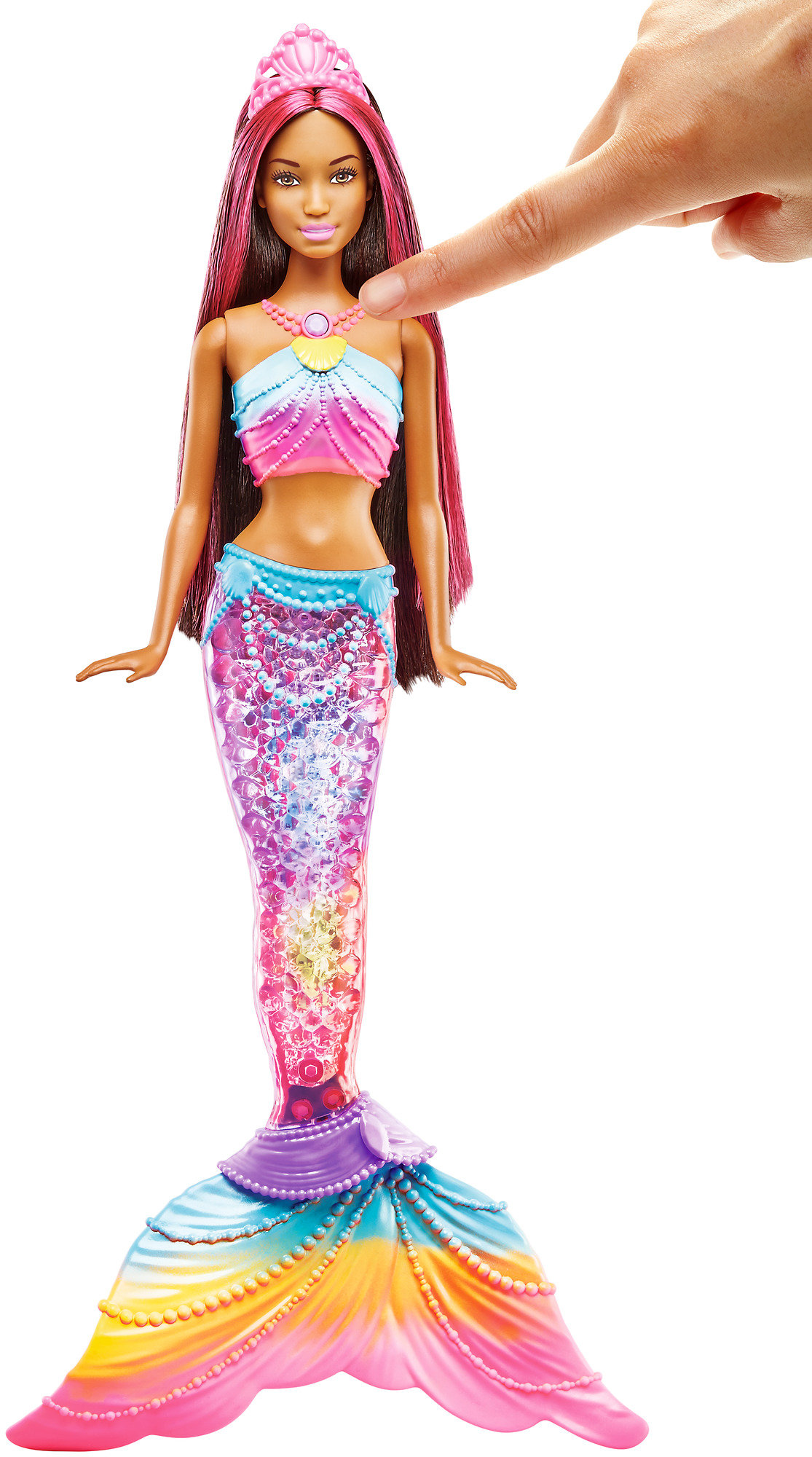 Barbie Rainbow Lights Mermaid Nikki Doll by Mattel