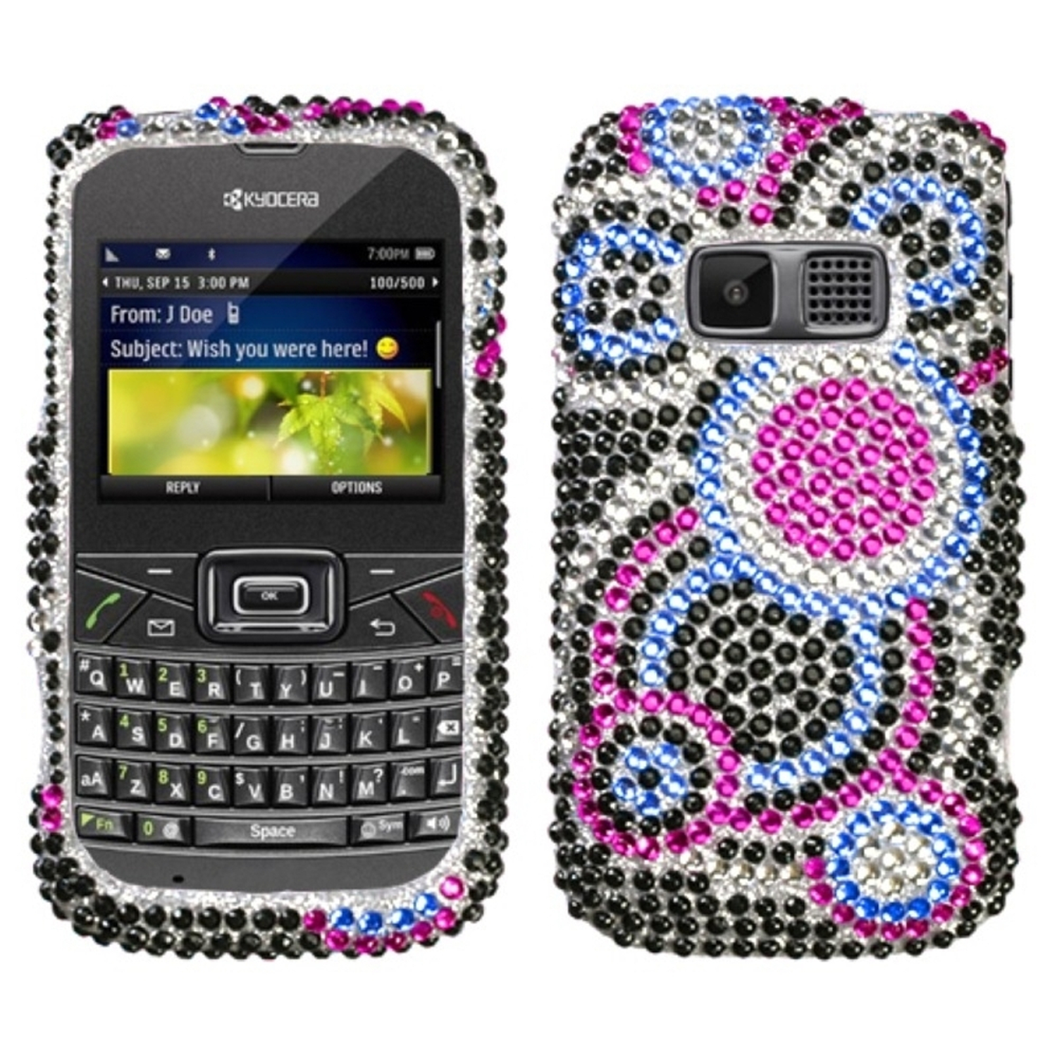 Insten Bubble Diamante Case Cover For KYOCERA S3015 Brio