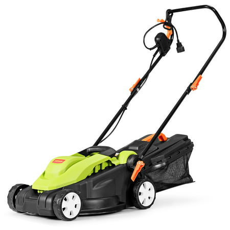 14-Inch 12Amp Lawn Mower w/Folding Handle Electric Push Lawn Corded Mower Green - image 1 of 10
