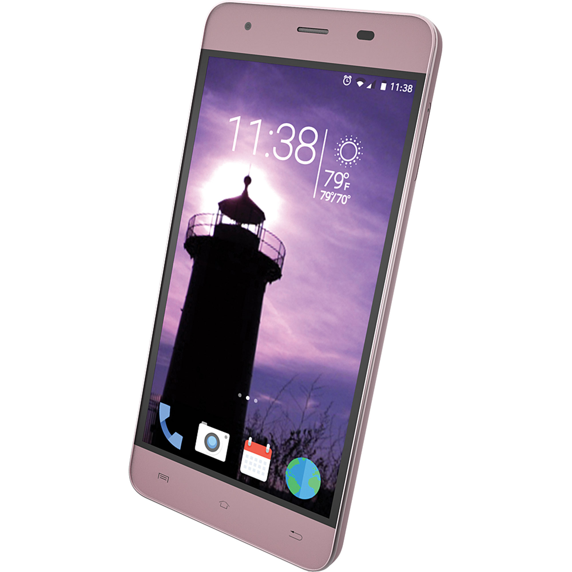 """Slide Unlocked Dual SIM 5"""" HD IPS Smartphone, Android 5.1 Quad Core 1.0GHz Processor, 1GB RAM 8GB ROM, 13MP Camera, Nationwide 4G LTE GSM Coverage- Rose Gold"""