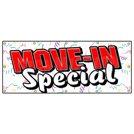 Move In Special Banner Sign Apartment Rental Rent Storage Free Rent Home House