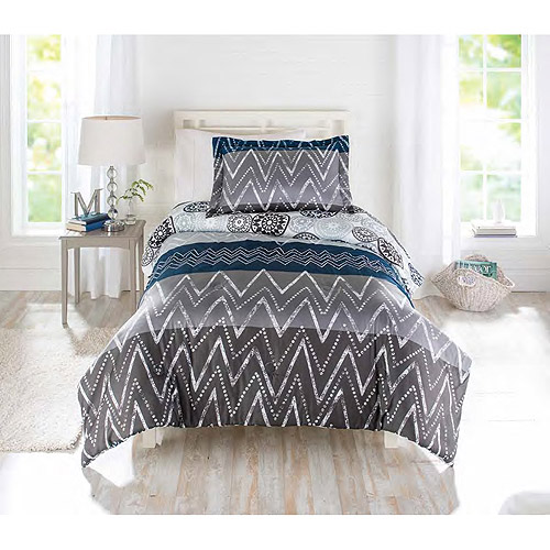 Better Homes and Gardens Comforter Set Zig Zag Walmartcom