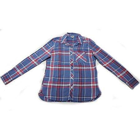 Woolrich Flannel Shirt - Woolrich Flannel Shirt Womens Blue Skies Large