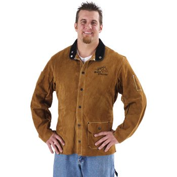"Black Stallion 30WC 30"" Quality Side Split Cowhide Welding Jacket, Small"
