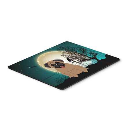 Halloween Scary Pug Brown Mouse Pad, Hot Pad or Trivet BB2195MP (Halloween Pugs)