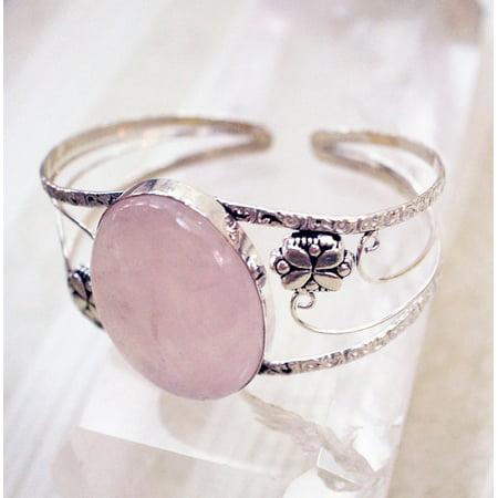 Designer Multi Gemstone - Canvas Print Gem Pink Stone Cuff Rose Quartz Jewelry Bracelet Stretched Canvas 10 X 14