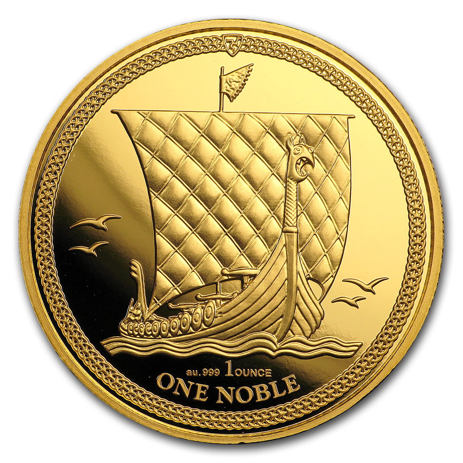 2017 Isle of Man 1 oz Gold Noble BU
