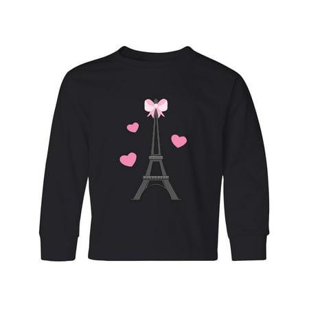 Paris Lover Eiffel Tower Youth Long Sleeve T-Shirt ()