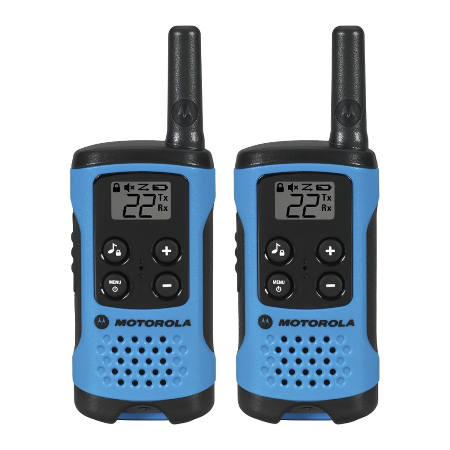 Radios Walkie Talkies, Blue Motorola T100 16-mi Wireless Radio Walkie Talkie,  2pk