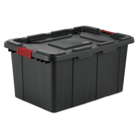 Black Cherry Tote - Sterilite 27 Gal./102 L Industrial Tote, Black (Available in a Case of 4 or Single Unit)