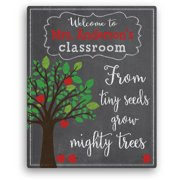 """Teacher Gift - From Tiny Seeds Grow Mighty Trees Personalized Canvas, 11"""" x 14"""" or 16"""" x 20"""""""