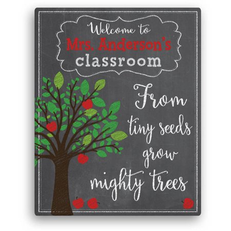 Teacher Gift - From Tiny Seeds Grow Mighty Trees Personalized Canvas, 11