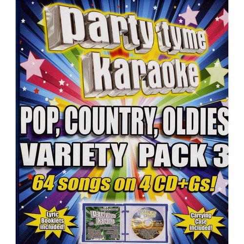 Party Tyme Karaoke: Pop, Country, Oldies Variety Pack 3 (4CD)