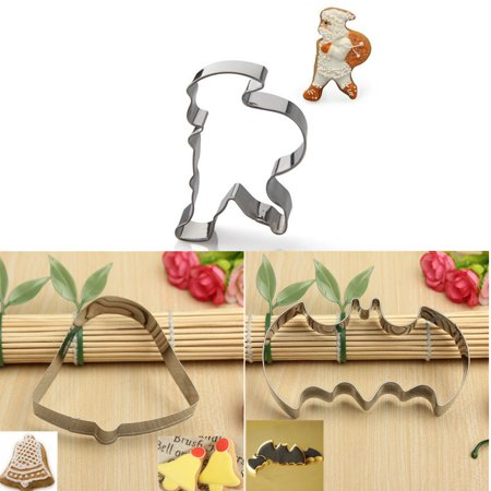 DIY Christmas Christmas Bells Cookies Biscuit Cutter Mold Cake Decor Mould Festival Gift Bell Cookie Cutter